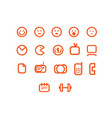 different web icons set vector image vector image