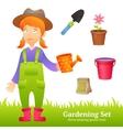 Farmer Woman Set vector image