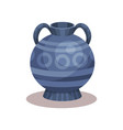flat icon of antique amphora with vector image vector image