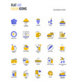 flat line multicolor icons design-restaurant vector image vector image