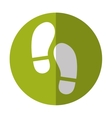 foot steps thumbnail icon image vector image vector image