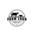 green farm logos emblem vector image vector image