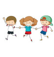 group of friend on white background vector image vector image