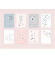 hand drawn abstract pastel bashower card vector image vector image