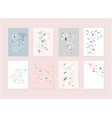 hand drawn abstract pastel bashower card with vector image vector image