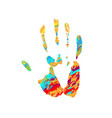 hand grunge silhouette vector image vector image