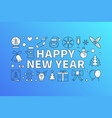 happy new year bright on blue vector image