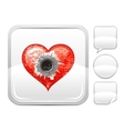 Happy Valentines day romance love heart Shot vector image