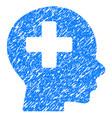 head medicine grunge icon vector image vector image