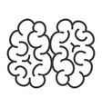human brain isolated icon vector image