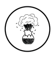 Icon explosion of chemistry flask vector image vector image