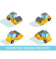 isometric mining industry vector image vector image