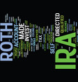 learn about the roth ira and how you can invest vector image vector image