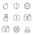 Line Icons Style Security icons vector image