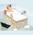 man in a bath vector image