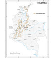 map coffee growing areas colombia vector image vector image
