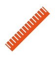 measuring ruler icon vector image vector image