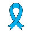 medical blue ribbon vector image