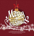 merry christmas 2018 template for your project vector image vector image