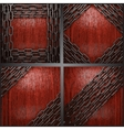metal on wood background set vector image