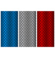 Metal perforated backgrounds blue silver and red