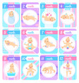 newborn baboy or girl during first months set vector image