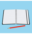 office notebook with a red pencil vector image vector image