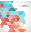 pattern of blue and red triangles vector image vector image