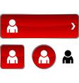 Person button set vector image vector image