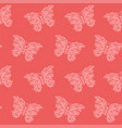 pink art with seamless pattern with butterfly vector image vector image