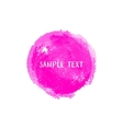 Pink watercolor round element vector image
