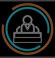 president speech icon public speaker character vector image