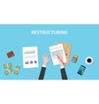 restructuring concept with business vector image vector image