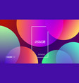 retro abstract presentation template with colorful vector image vector image