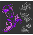 rose motif - flower design elements vector image