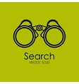 search isolated icon design vector image