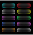 set colorful neon web buttons vector image vector image