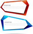 Set of label banner polygon element background vector image vector image