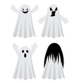 Simple Spooky Ghosts4 vector image