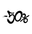 sprayed -50 percent graffiti with overspray in vector image vector image