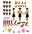 student african girl creation kit with school vector image vector image
