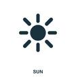 Sun icon flat style icon design ui