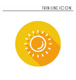 sun line simple icon weather symbols meteorology vector image vector image