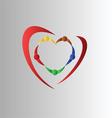 Teamwork symbol vector image vector image