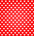 Valentine card hearts background vector image