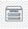 vegetables concept linear icon isolated on vector image