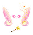 video chat fairy wings face selfie effect photo vector image vector image
