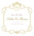 vintage luxury invitation wedding card minimal vector image vector image