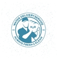 Water delivery service emblem vector image vector image