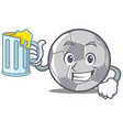 with juice football character cartoon style vector image